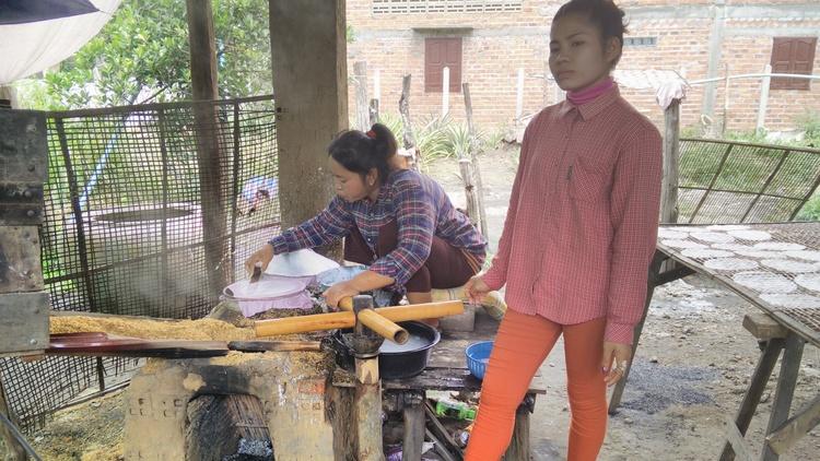 Rijstvellen productie