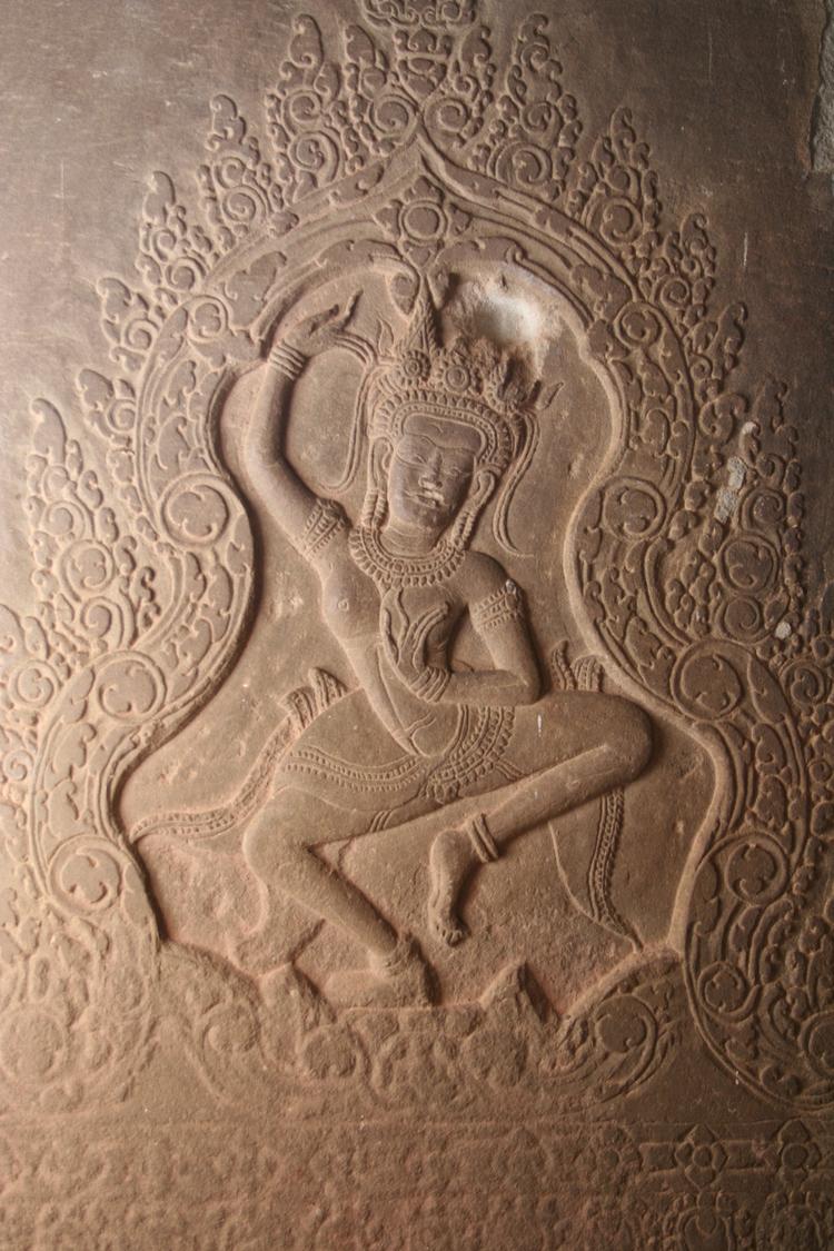 Gravure in Angkor Wat