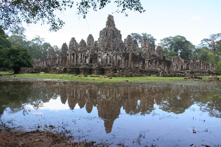 Bayon, de grootste tempel van Angkor Thom