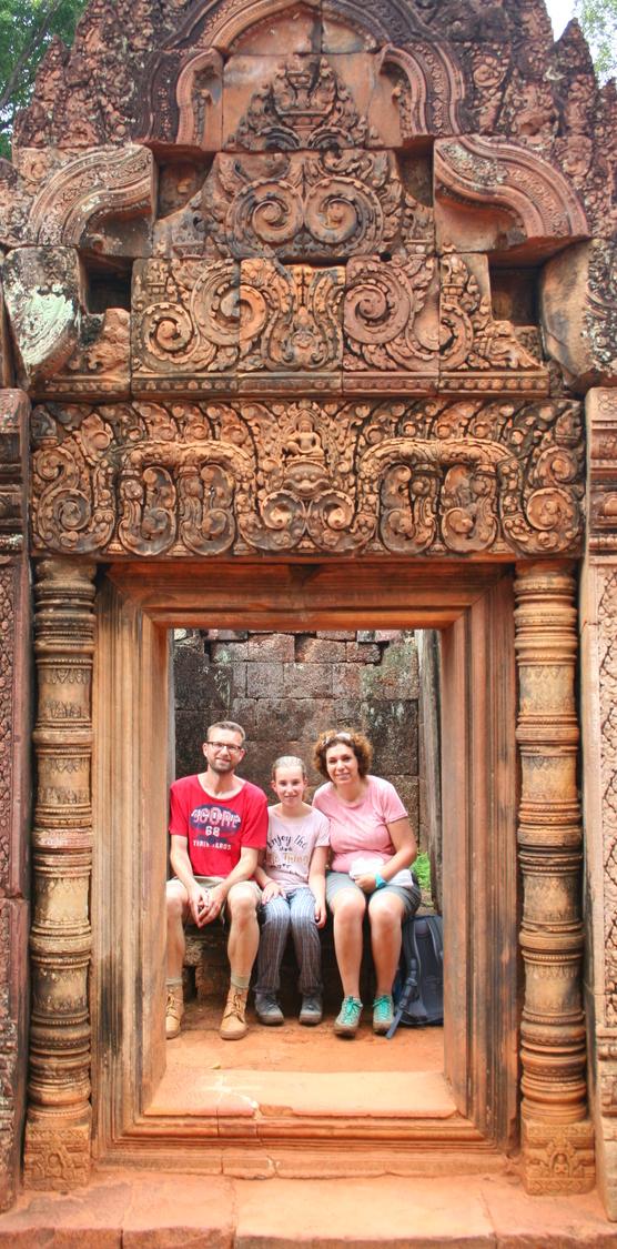 Nog een poort in Banteay Srei