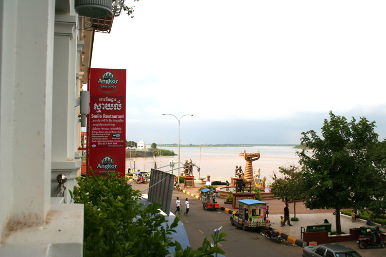 View from Monorom Hotel, Kompong Cham