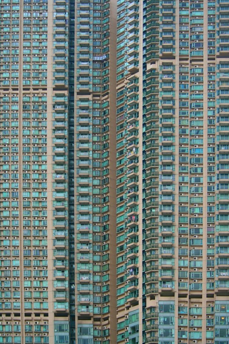 Hoogbouw in Kowloon