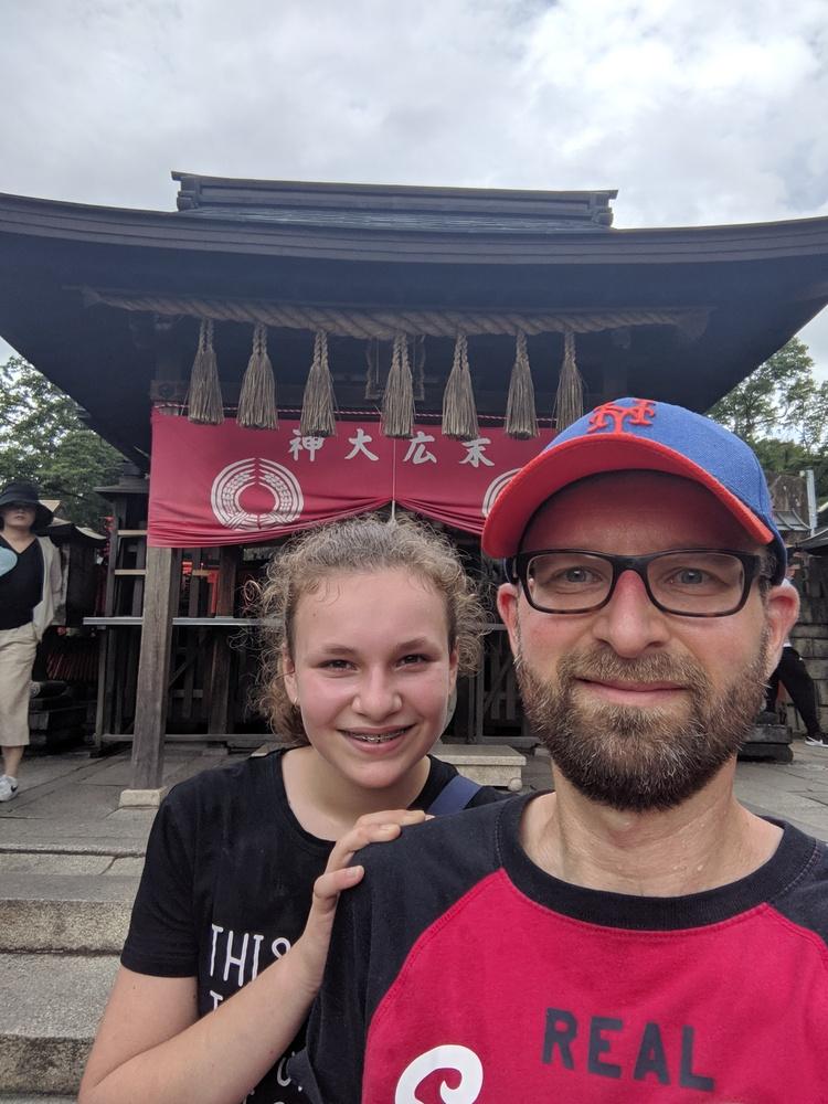 Op de top van de Inari berg!