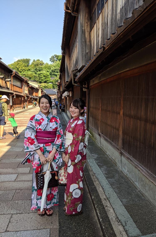 Toeristen in Higashi Chaya