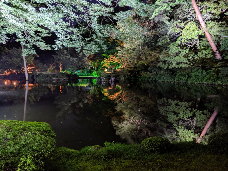 Kenroku-en Park by night