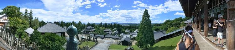 Uitzicht vanaf Nigatsu-do heiligdom