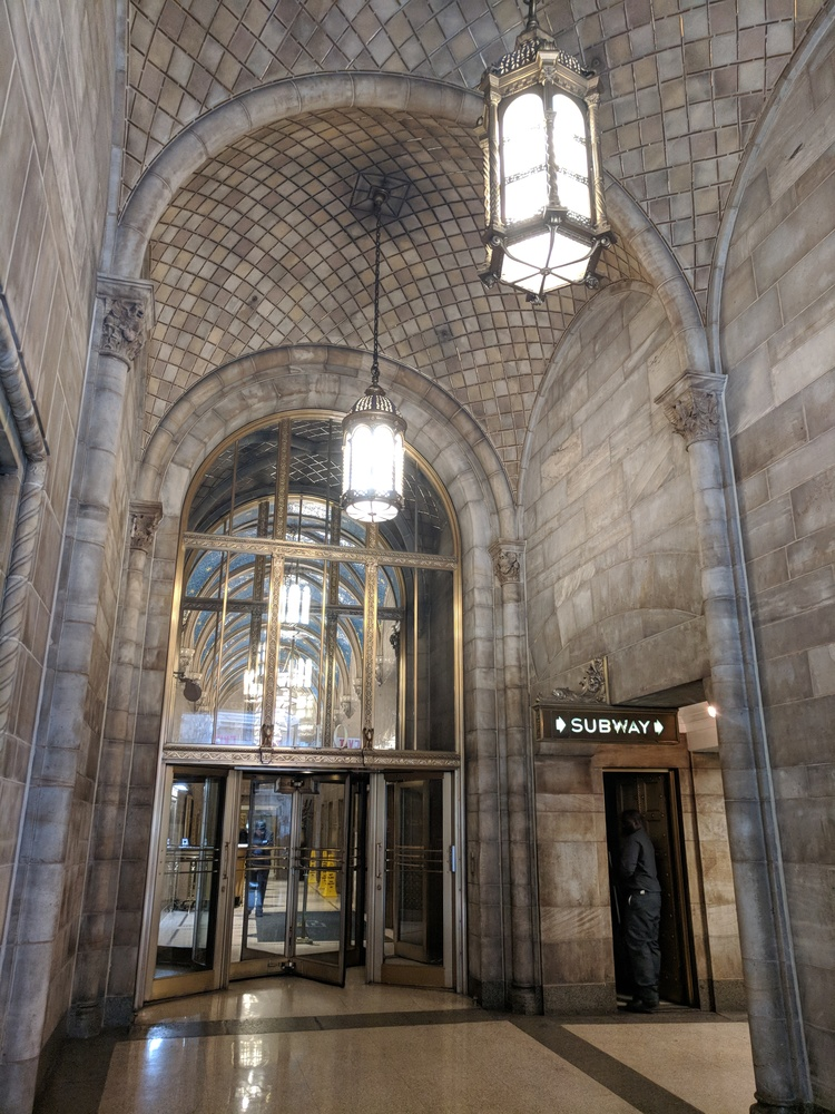 Bowery Building (entrance)