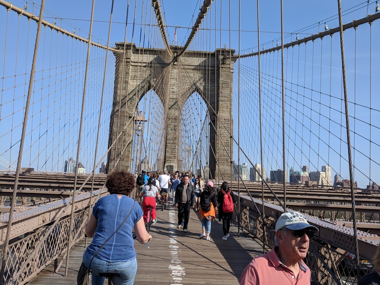 Per fiets over de Brooklyn Bridge