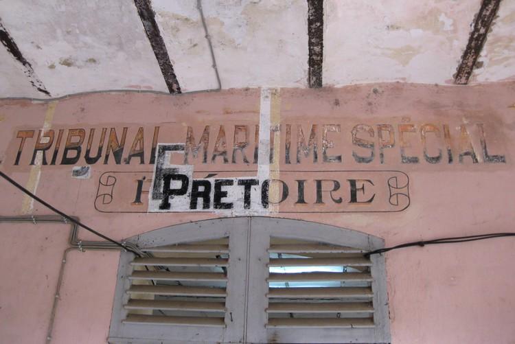 Opschrift in de gevangenis van Saint-Laurent