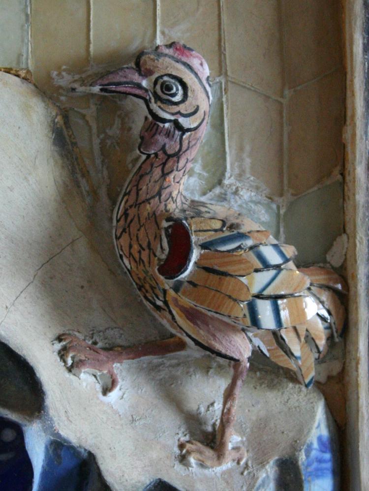 Mozaiek detail in Khai Dinh Tombe