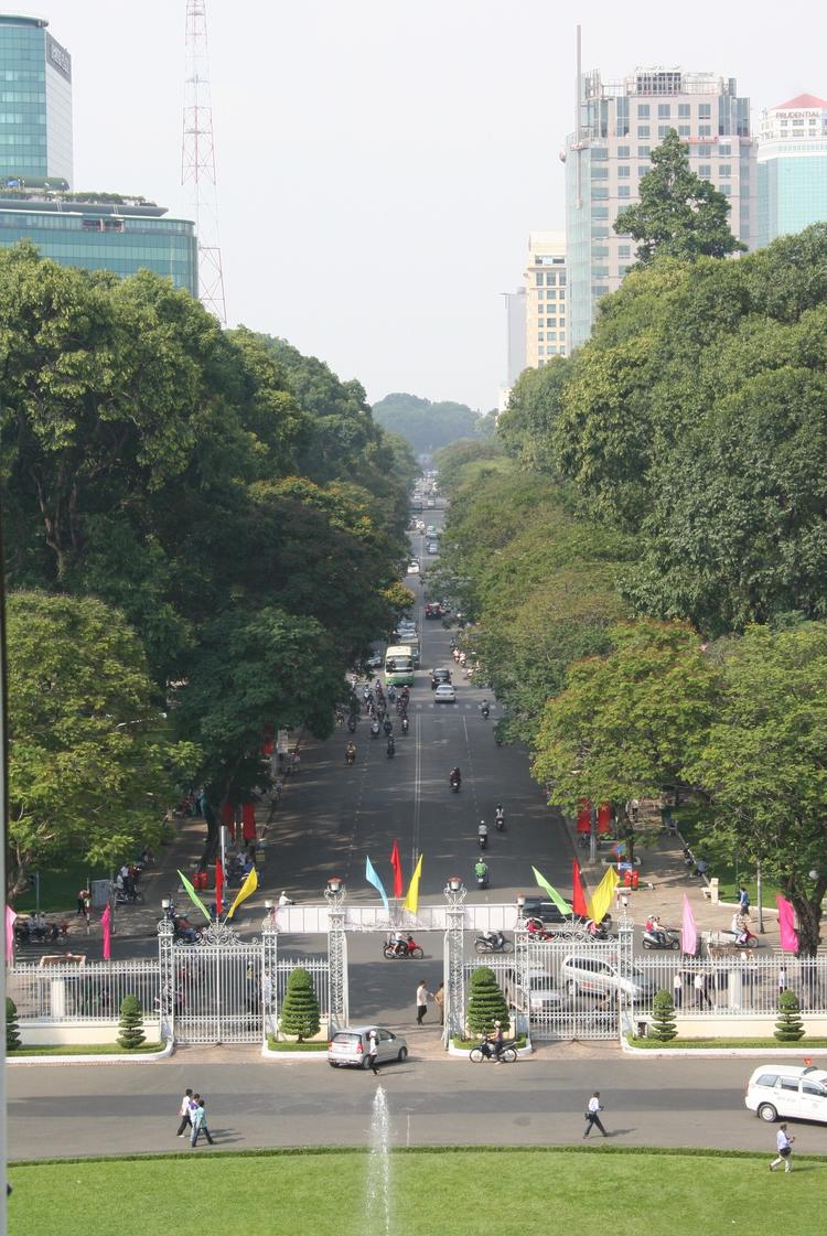 Uitzicht vanaf het Reunification Palace