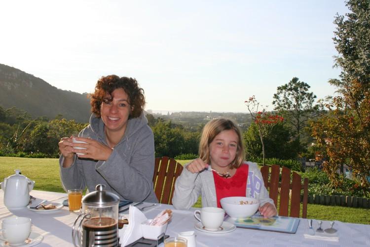 Ontbijt bij Piesang Valley Lodge